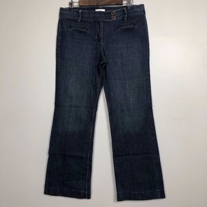 Anna Taylor Loft Womens Size 10 Dark Wash Jeans